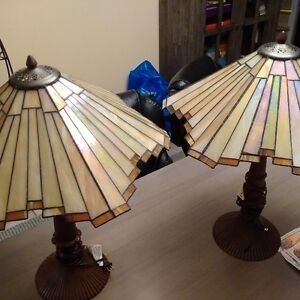 Succession sale Tiffany style glass lamps (Tania Bricel)