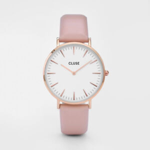 CLUSE Ladies Watch ~ Brand New, Minimalist, Pink Leather Band