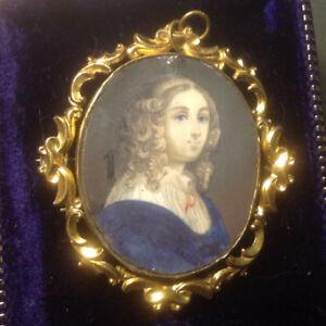 """""""Portrait of a lady"""" Dutch oil miniature, 17th century"""