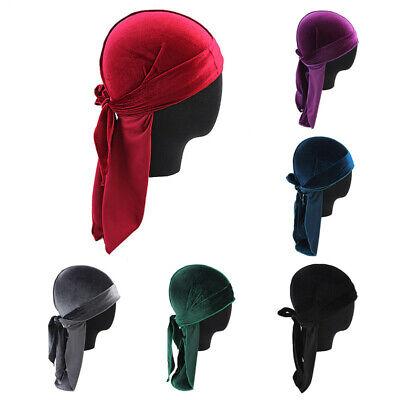 Unisex Velvet Scarf Pirate Hat Long Tail Durag - Velvet Pirate Hat
