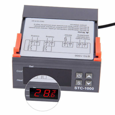 Temperature Thermostat Stc-1000 Controller Auto Heating Cooling Aquarium Brew