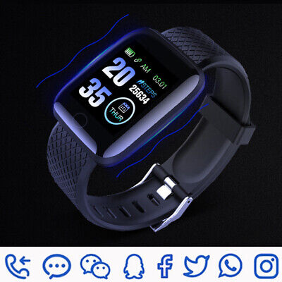 Smart Watch Heart Rate Pedometer Waterproof Fitness For iPhone Huawei Samsung