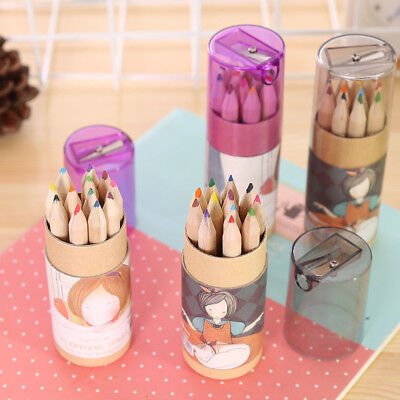 Educational Pencil (12 Colours Drawing Painting Pen Educational Wooden Pencil Kids Toys for Children )