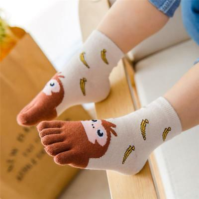 Kids Cotton Socks For Boys Girl Cute Kawaii Children Cheap Stuff Five Finger New - Cheap Girl Stuff