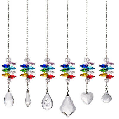 Suncatcher Set (LONGWIN Set 6 Crystal Suncatcher Stained Glass Pendant in the Garden Window Gift )