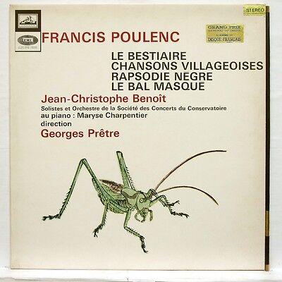 Asdf 869   Pretre   Poulenc Le Bestiaire  Rapsodie Negre Emi Stereo Lp Ex