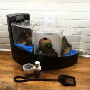 Aquarium aqueon kit betta falls trio fontaine