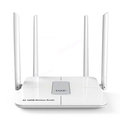 Long Range Wireless Router - Dual Band 1200Mbps 11 AC Wireless Router Firewall Repeater 4 Antenna Long Range
