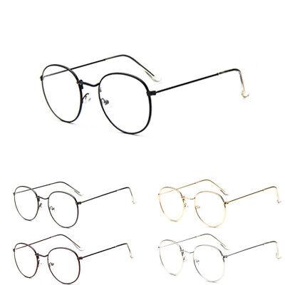 Fashion Vintage Retro Round Frame Mens Womens Clear Lens Eyeglasses Glasses
