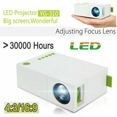 Portable Mini Projector YG310 3D HD LED Home Theater Cinema 1080P AV USB HDMI UK