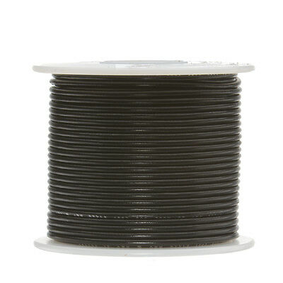 18 Awg Gauge Solid Hook Up Wire Black 100 Ft 0.0403 Ul1007 300 Volts