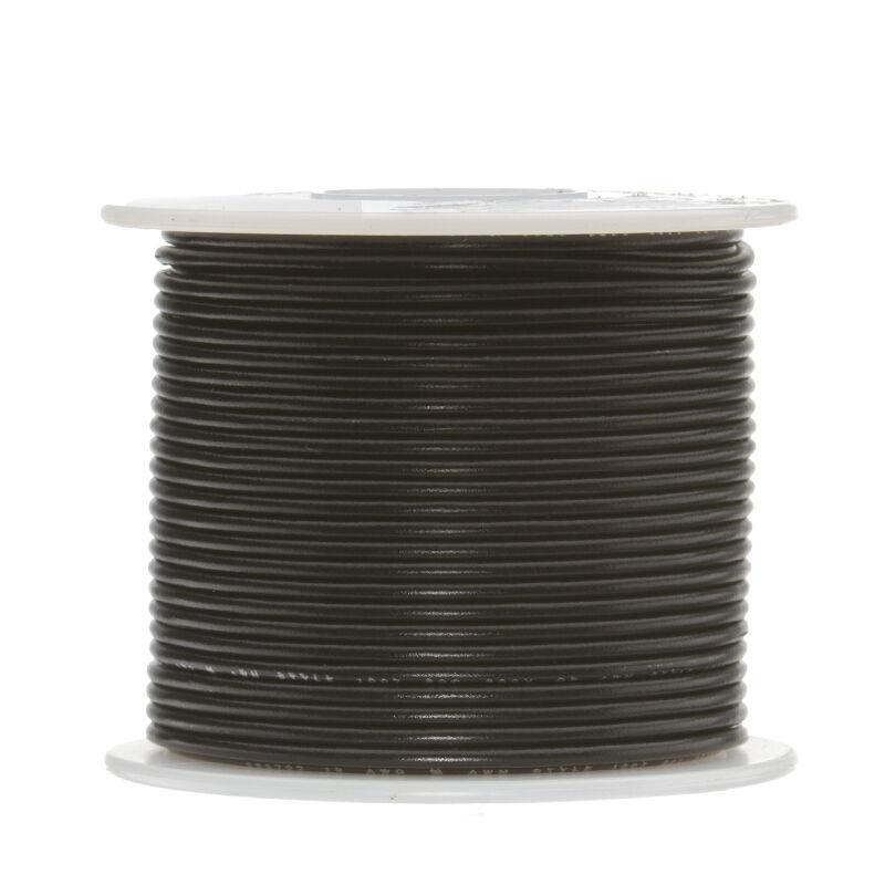 "18 AWG Gauge Solid Hook Up Wire Black 100 ft 0.0403"" UL1007 300 Volts"