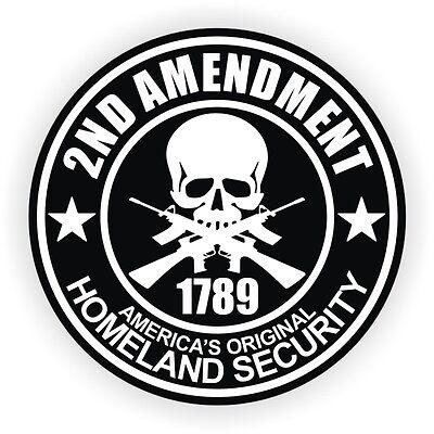 2nd Amendment Hard Hat Sticker Motorcycle Helmet Welding Decal Black Ops