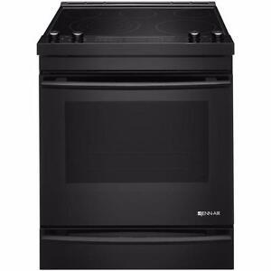 30'' Jenn-Air range, cooking drawer, true convection, black