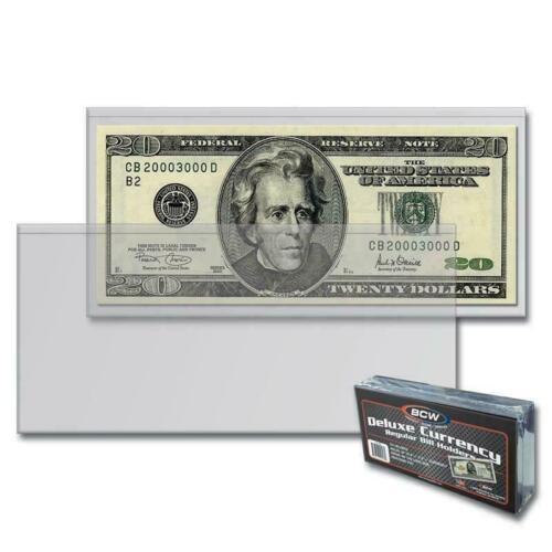 1 semi-Rigid - Regular Dollar Bill Protector / Holder - Free Shipping !!!!