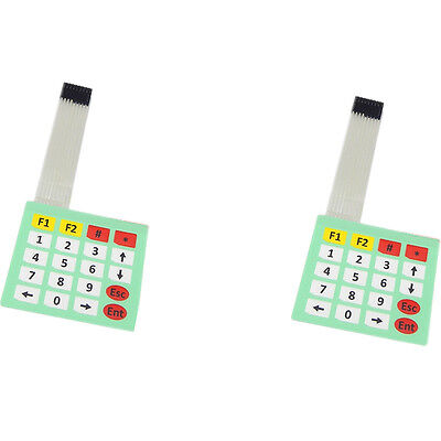 2pcs 4x5 Matrix Extension Keyboard 20 Key Membrane Switch Keypad For Arduino