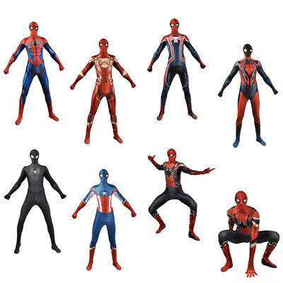 Spiderman Cosplay Zentai Bodysuit Men Peter Parker Costume Bodysuit Halloween - Peter Parker Halloween Costume
