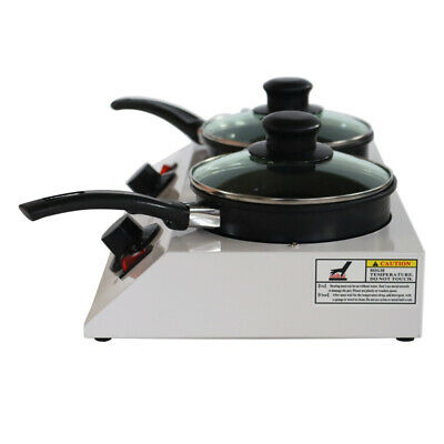 110v Heated Chocolatecandy Melting Machine Double Pot Chocolate Tempering