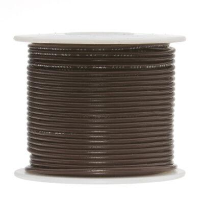 30 Awg Gauge Stranded Hook Up Wire Brown 250 Ft 0.0100 Ptfe 600 Volts