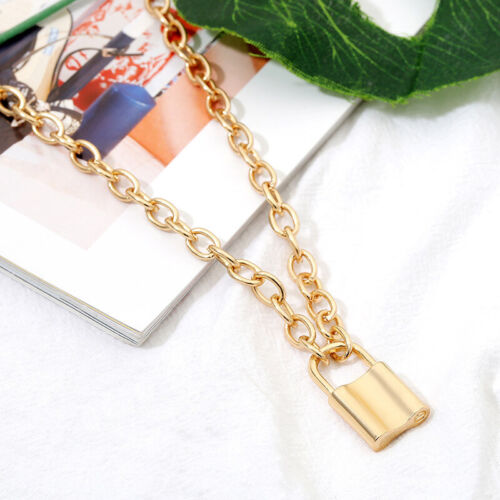 Hiphop Lock Pendant & Necklace For Women Gothic Link Chain S