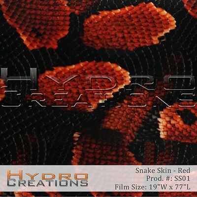 Hydrographic Film For Hydro Dipping Water Transfer Film Red Snake Skin
