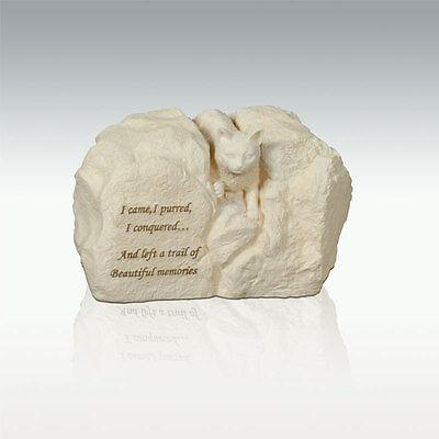 Perfect Memorials Cat Stone Cremation Urn I Came, I Purre...
