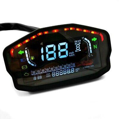 MOTORCYCLE TACHOMETER SPEEDOMETER LCD DIGITAL REV COUNTER ZADDOX CXS