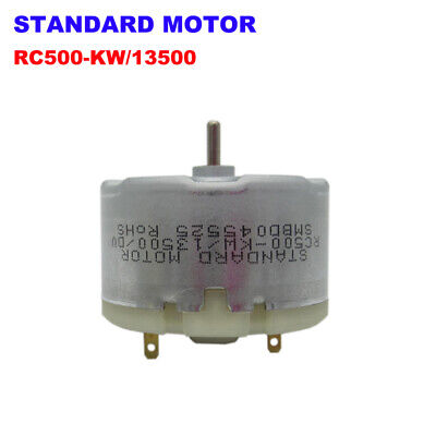 Standard Motor RC500-KW/13500 DC 5V-12V 6800RPM Mini 32mm Round Motor 2mm Shaft