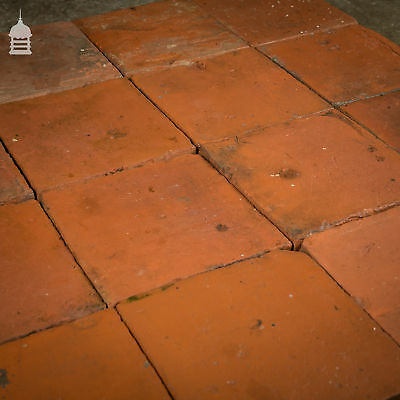 Reclaimed 9 Inch x 9 Inch Red Quarry Tiles 9x9 Floor Tiles