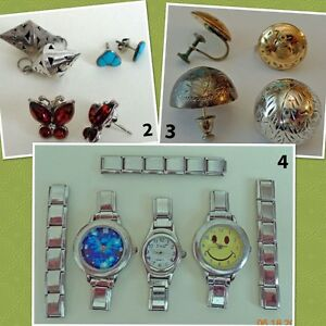 Assorted Earrings and Watches