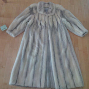 Women's Mink Sapphire Cross Coat (custom made)