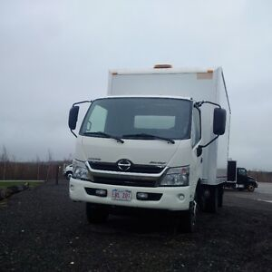 2013 Hino 155 with 16ft dry van.