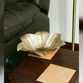 Homesense Decorative flower shaped glass bowl