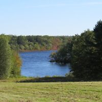 HOUSE AND 13 ACRES WITH WATER FRONTAGE ON GRAND LAKE