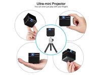 BRAND NEW,,ExquizOn S6 Mini Cube Pocket DLP Projector, 2000 Lumens/100 ANSI Lumens