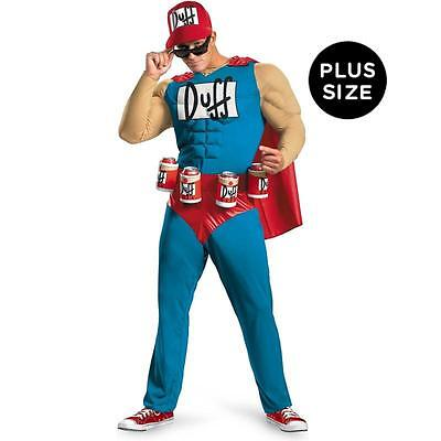 Duffman Kostüm (THE SIMSON DUFFMAN COSTUMES NEW PLUS SIZE Classic Muscle Adult plus size)