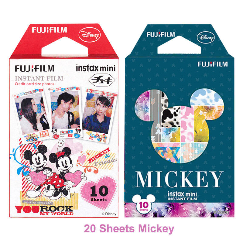 20 Sheets Mickey Fujifilm Instax Mini Film For Mini 9 8 8+ 7s 70 90 25 SP-2 1