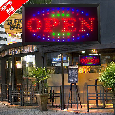 110220v Bright Led Open Store Restaurant Business Bar Light Sign Neon Switch