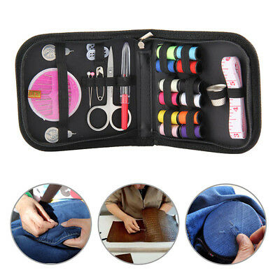 Small Beginner Sewing Kit Case Set Supplies Adults Home Travel Campers Durable