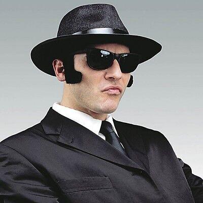 Blues Brothers Kostüm Set -  4 tlg  Hut, Brille, Krawatte, - Blues Brothers Kostüm