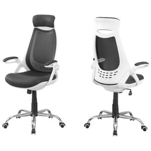 Monarch Polyester Executive Chair - White/Grey New in Box