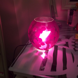Pink IKEA desk lamp