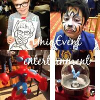 FACE PAINTING & BALLOON TWISTING  & CARICATURES