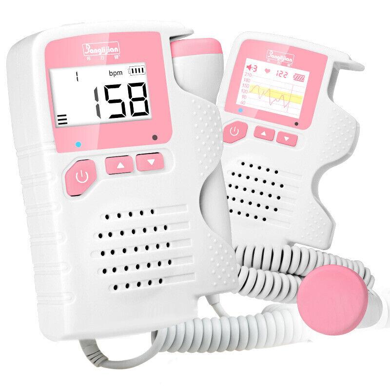Pocket Fetal Doppler Prenatal Baby Heart Rate Detector Household Beat Monitor PJ