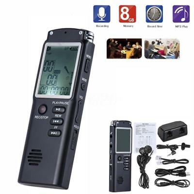 LCD Digital 8GB Diktiergerät Aufnahmegerät Musik Voice USB Audio Recorder Mp3 DE