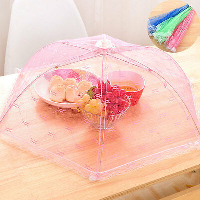 Foldable Food Umbrella Cover Anti Fly Wasp Insect Net Picnic Kitchen Party Mesh