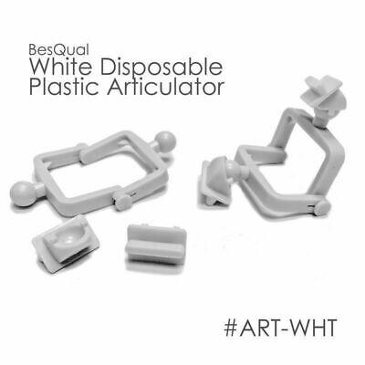 Dental Lab Disposable Plastic Articulator 100 Sets White