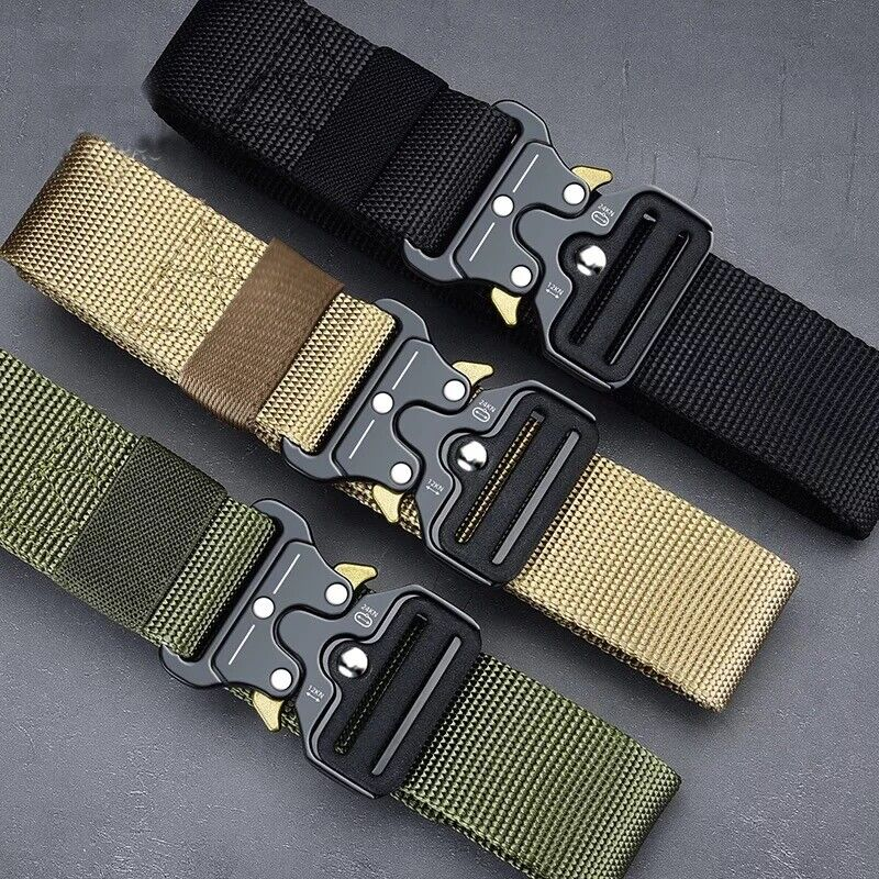 MEN Casual Military Tactical Army Adjustable Quick Release Belts Belts