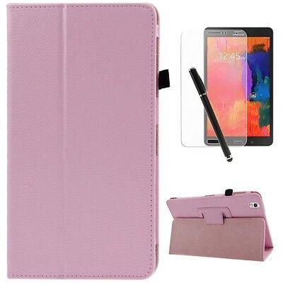Schutzhülle Samsung Galaxy Tab pro 8.4 SM-T320 Kunstleder Tasche Case rosa