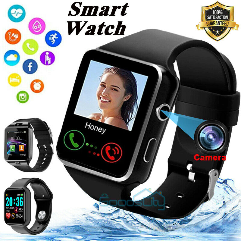 2021 Touch Smart Watch W/ Cam Women Men Heart Rate For iPhone Android Waterproof